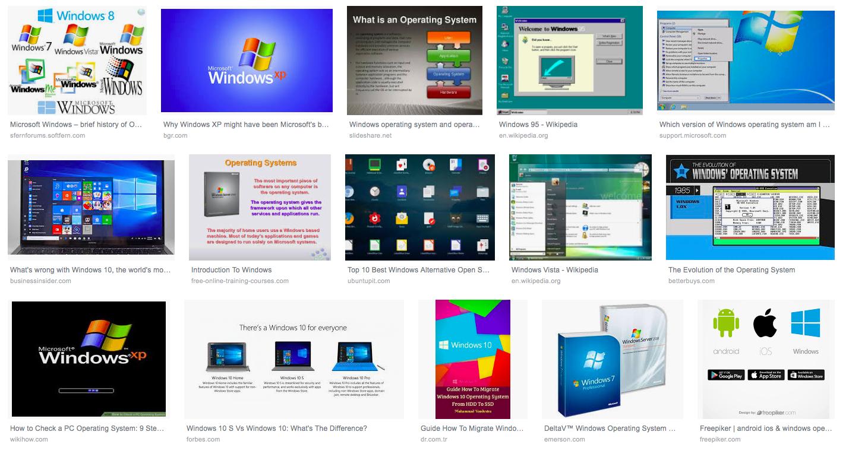 windows işletim sisteminin dünü bugünü ve yarını