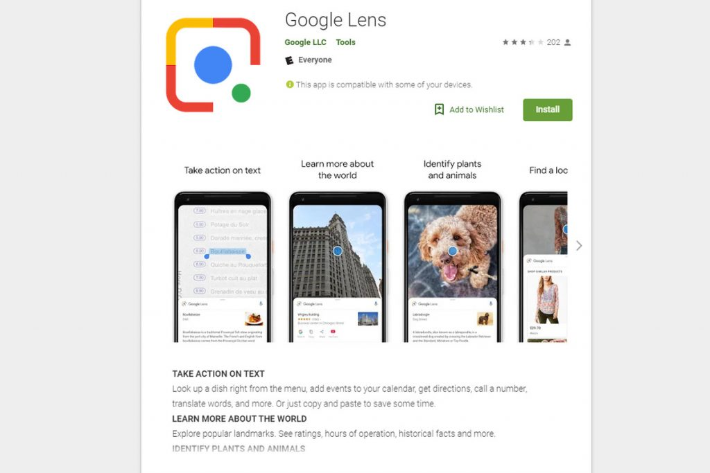 augmented reality google lens