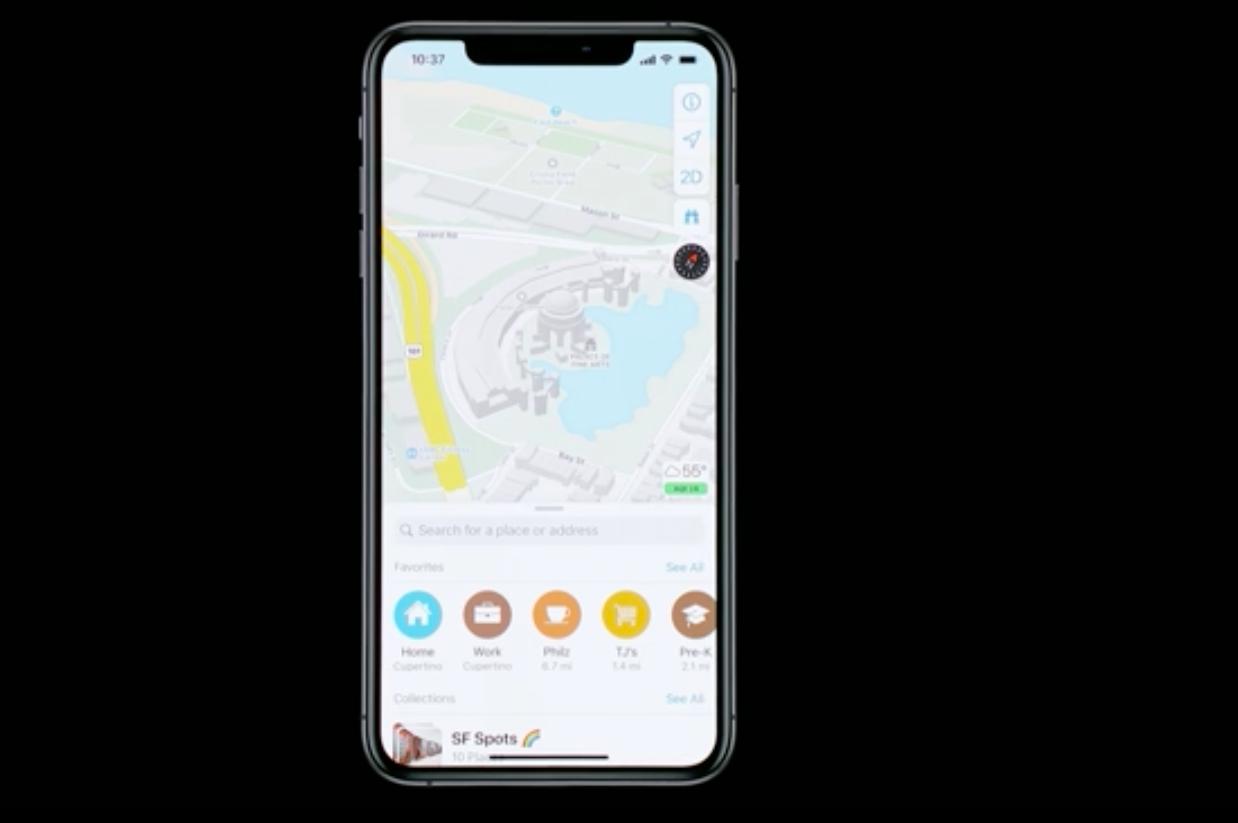 ios13 beta yazılım güncellemesi özellikle haritalarda yeni özellikler getirmiş