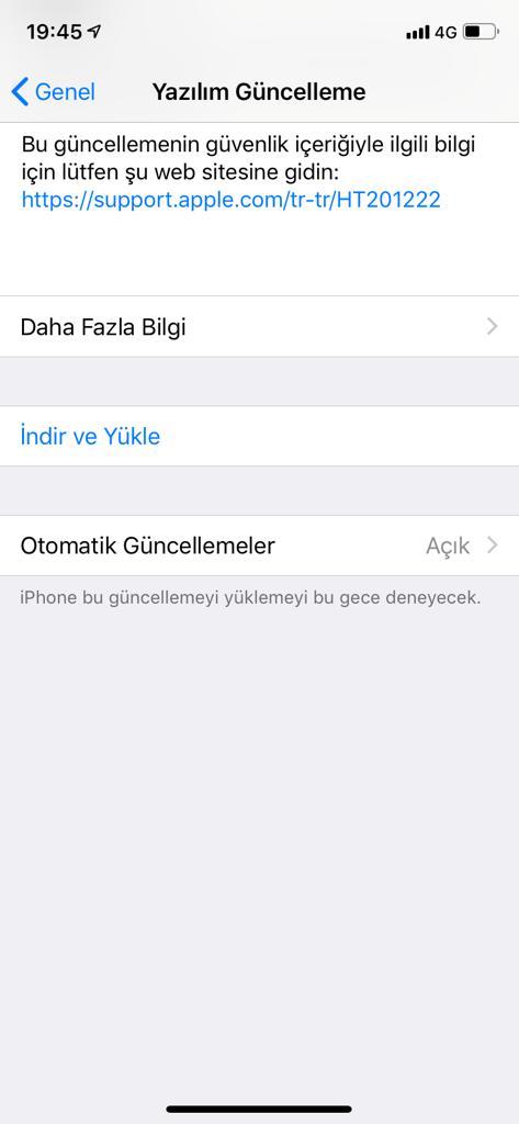 apple ios yazılım güncellemesi