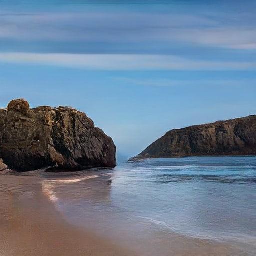 yapay zeka ile renklenmis sahil görseli
